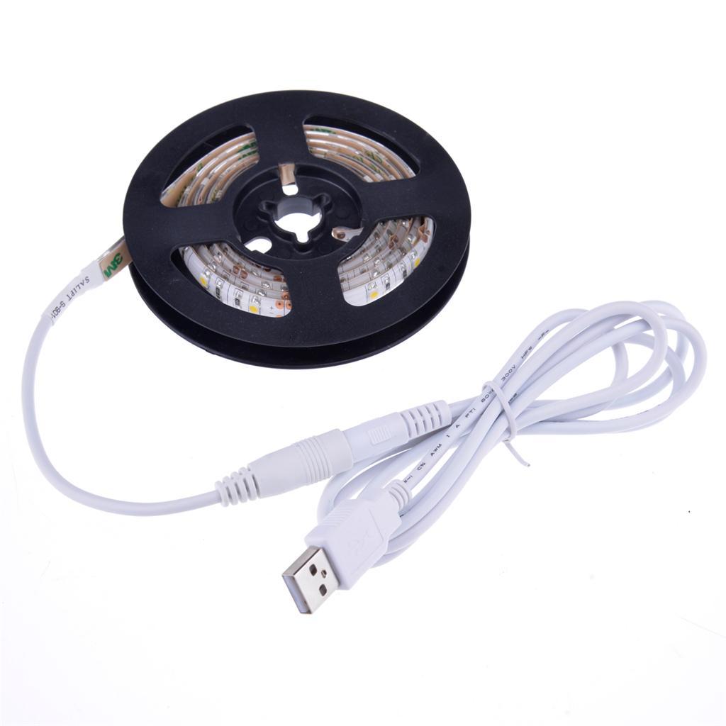 led stripe leiste 5v usb kabel f r pc laptop auto tv. Black Bedroom Furniture Sets. Home Design Ideas