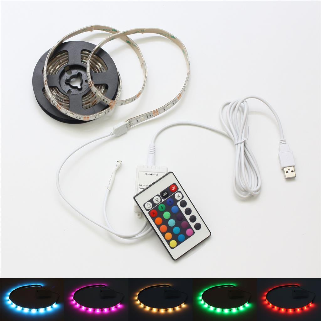 batterie betrieben led rgb strip fernbedienung mehrfarbig leiste controller ebay. Black Bedroom Furniture Sets. Home Design Ideas