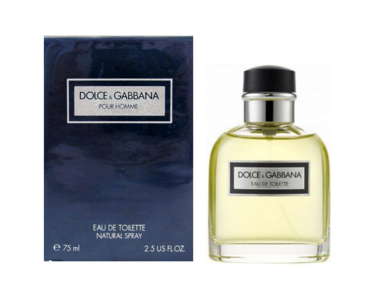 dolce gabbana pour homme vintage made in italy 2 5 oz eau de toilette spray ebay. Black Bedroom Furniture Sets. Home Design Ideas