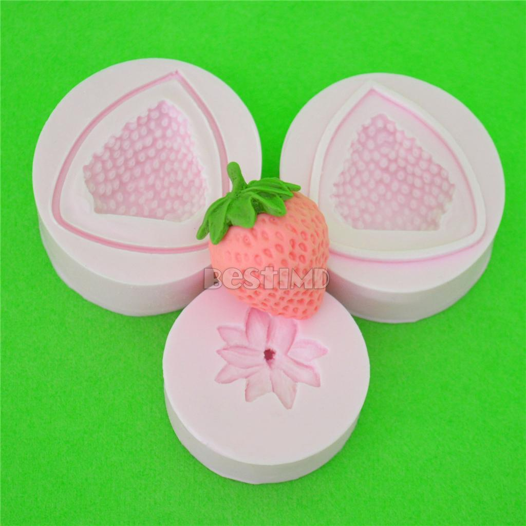 Cake Decorating Silicone Molds Uk : Large Strawberry Silicone Clay Moulds Fondant Sugarcraft ...