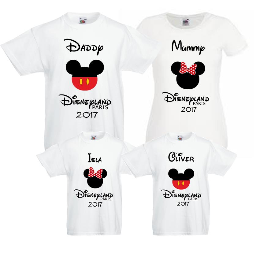 Disneyland 2017 family bundle t shirts mummy daddy kids for It s all custom t shirts and embroidery atlanta