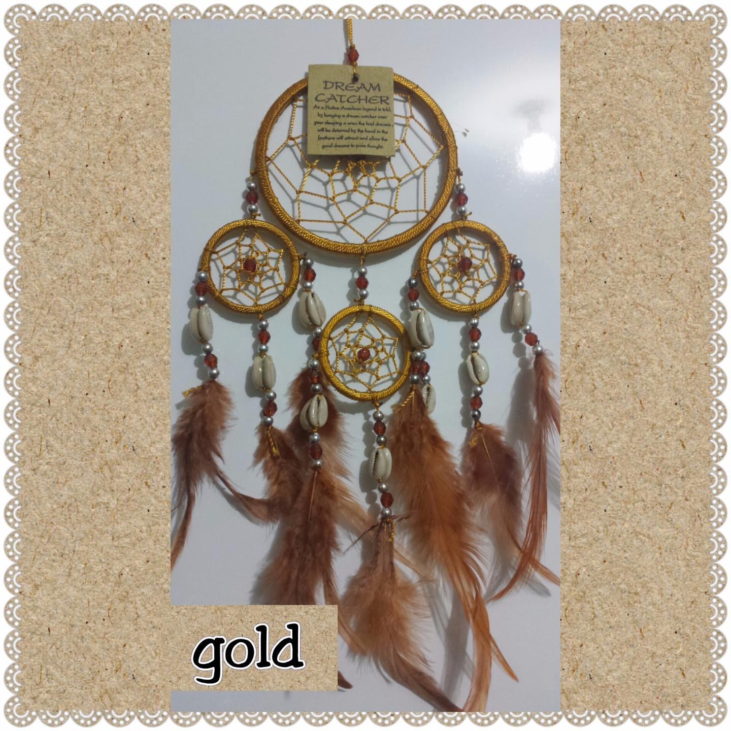 Dream catcher  40cm overall drop with shells DCAP5A