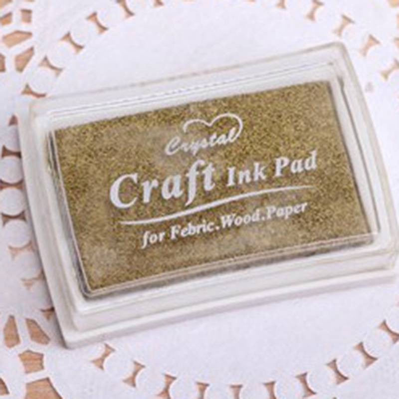 Fashion Child-safe Craft Oil Ink Pad Rubber Stamps Fabric Wood Scrapbook CA MO