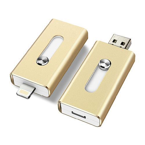 hot metal otg usb flash drive 16 32 64 128gb for apple. Black Bedroom Furniture Sets. Home Design Ideas