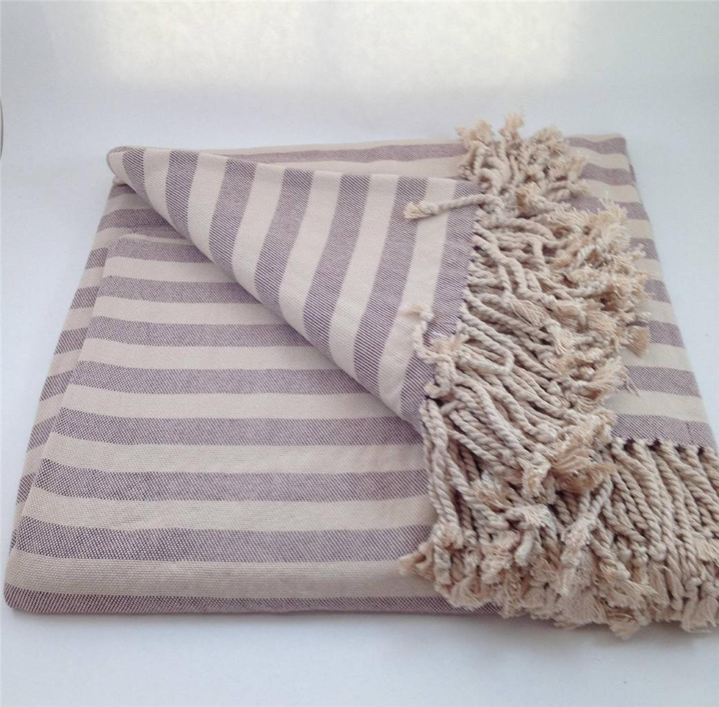 100 Striped Bamboo Viscose Throw Blanket Nine Space Soft