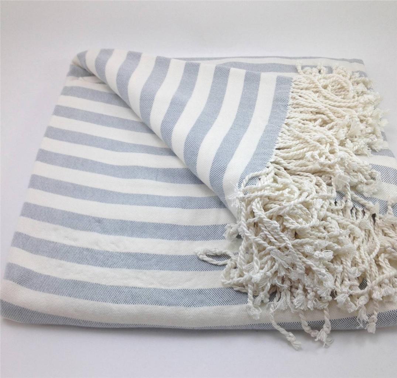 striped bamboo viscose throw blanket nine space soft warm  - stripedbambooviscosethrowblanketninespace