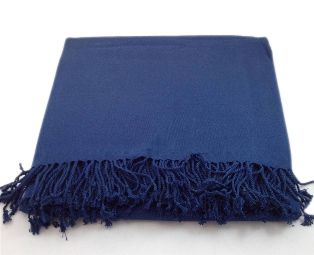 100 Solid Bamboo Viscose Throw Blanket Nine Space Soft
