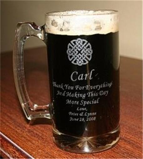 Personalized Beer Mugs Wedding Gift : Details about 10 PERSONALIZED 25oz BEER MUGS Groomsman Wedding Gift