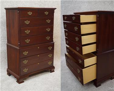 details about cochrane solid cherry 4 pc bedroom set queen bed chest