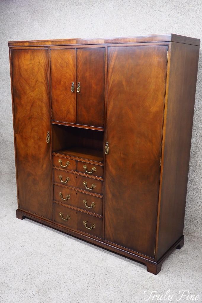 Image Is Loading WARING Amp GILLOW Flamed Mahogany Armoire Antique Original