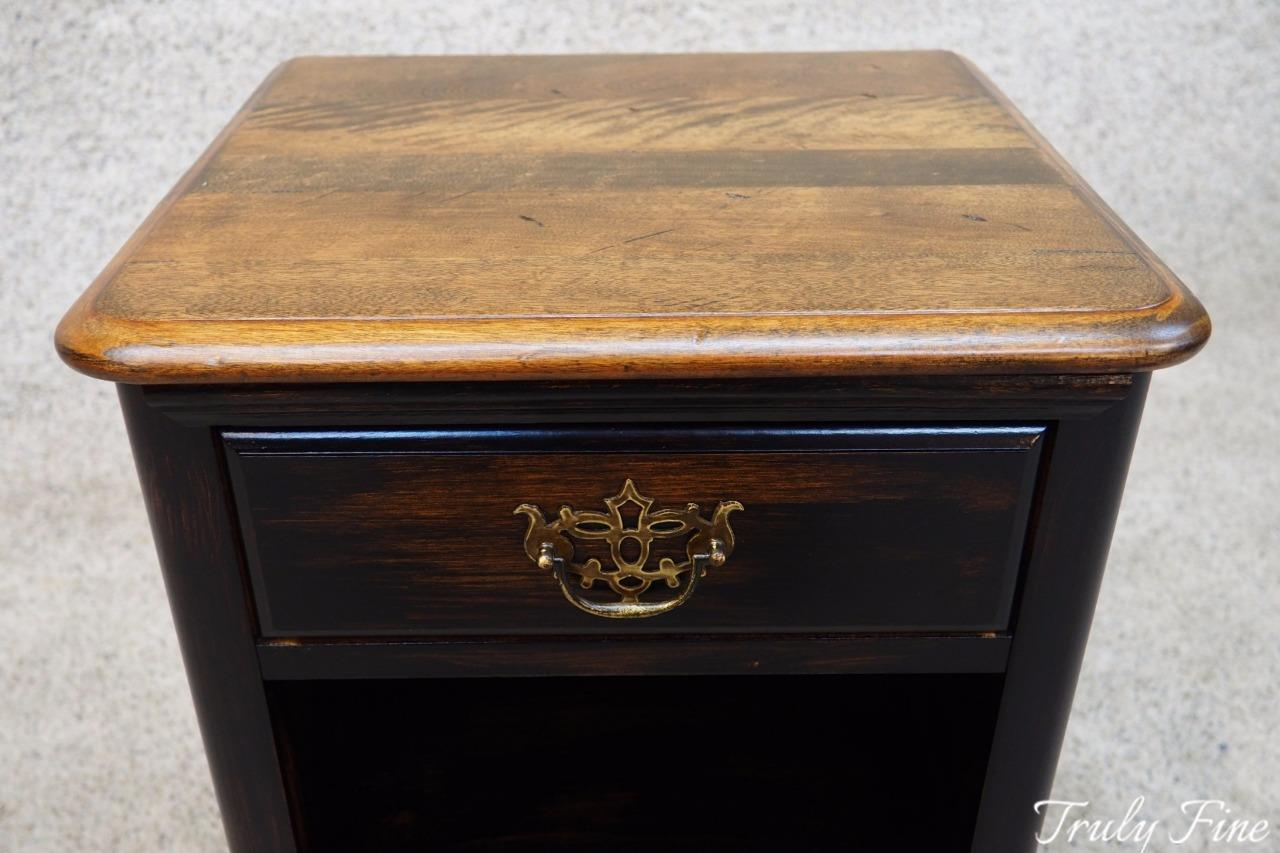 8 Of 12 Jamestown Sterling Hardwood Black Distressed Finish Nightstand Night Stand Table