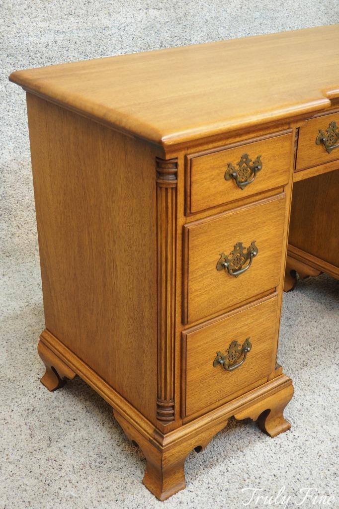 kling of ny solid gold mahogany antique vanity writing bedroom desk ebay. Black Bedroom Furniture Sets. Home Design Ideas