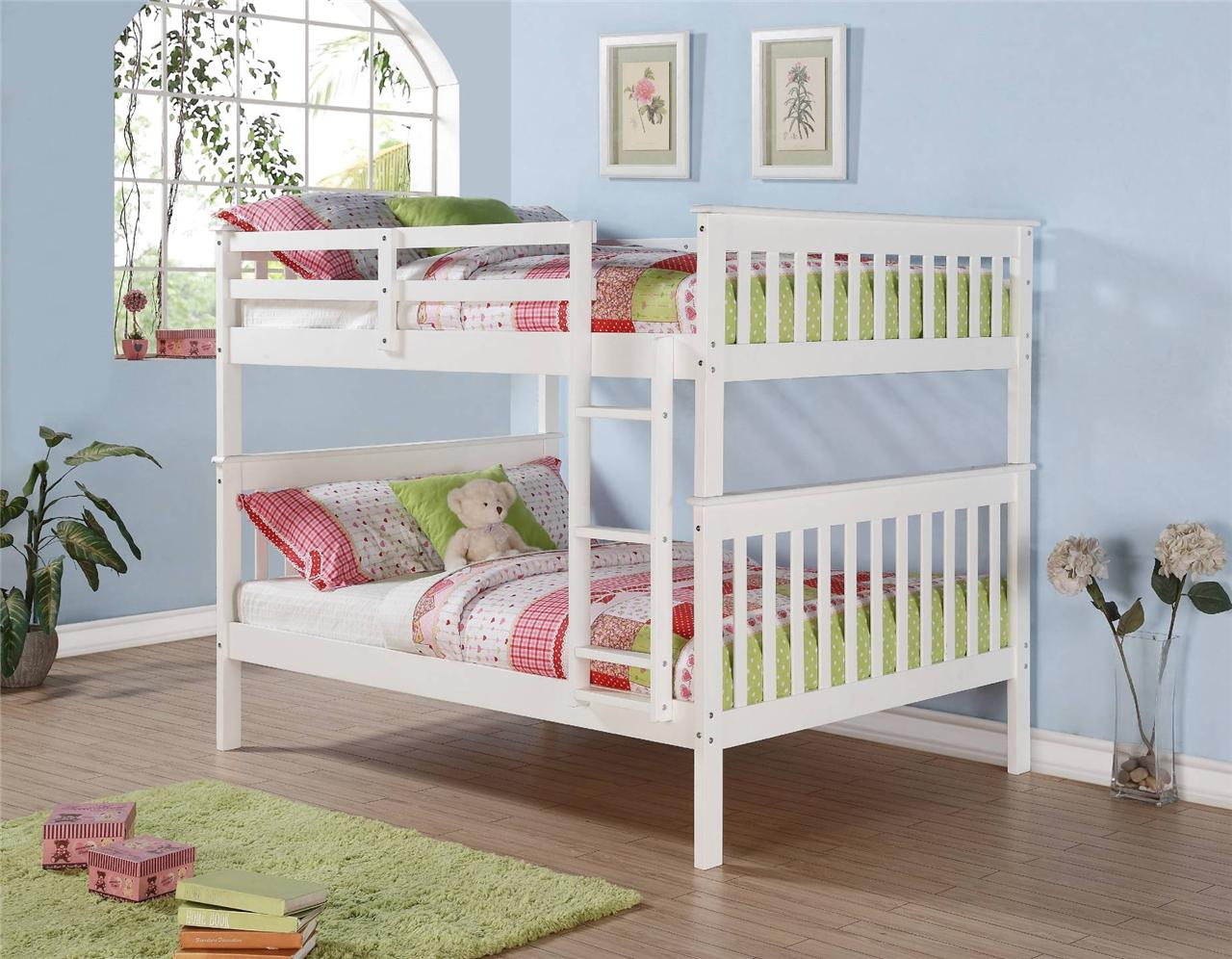 Full Over Full Mission Bunk Bed White