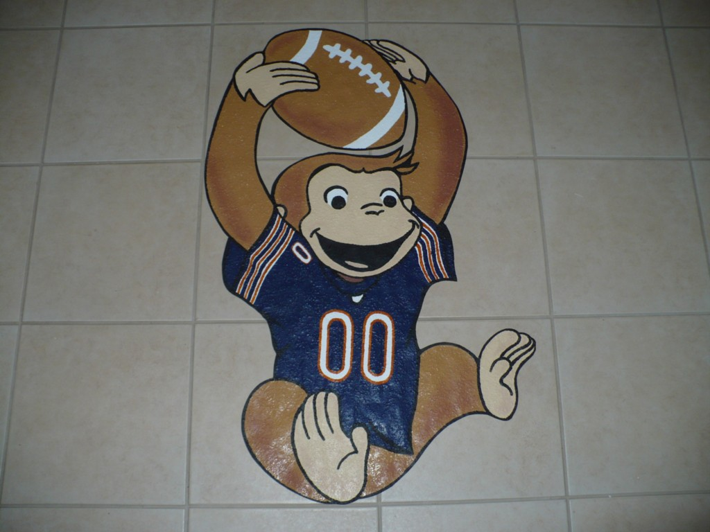 Curious george nfl nba mlb wallpaper mural wall decor ebay for Curious george mural