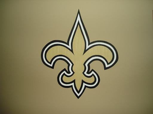 New Orleans Saints Fleur De Lis Logo Nfl Football Decor Ebay