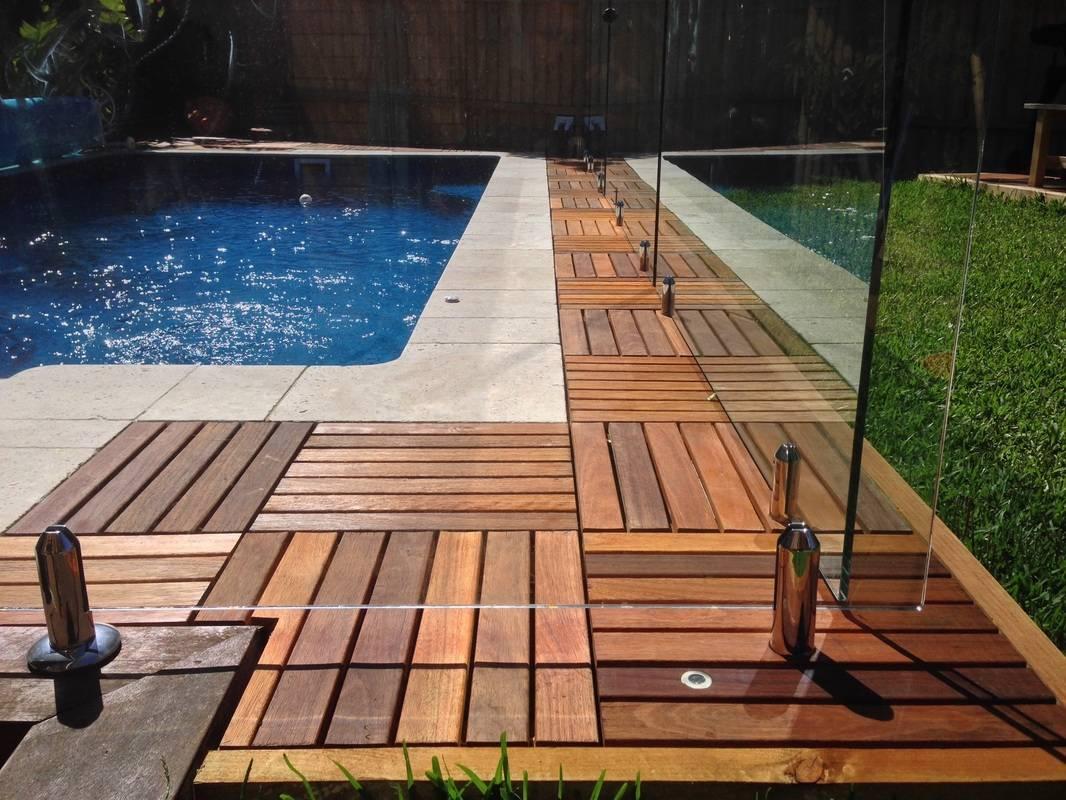 Deck tiles 500 x 500mm australian hardwoods cream for Australian hardwood decking