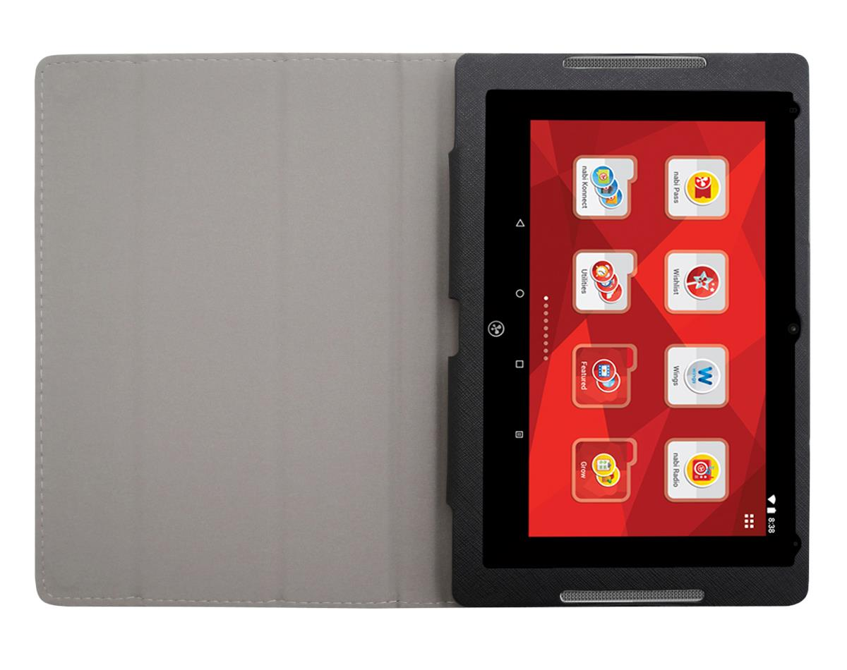 for Fuhu Nabi Elev-8 Tablet PU Leather Folding Folio Skin ...