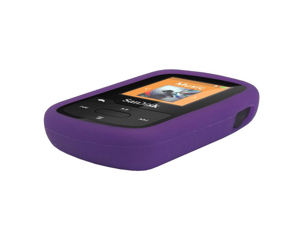 black charger cable purple skin case for sandisk sansa clip sport plus sdmx28 ebay. Black Bedroom Furniture Sets. Home Design Ideas