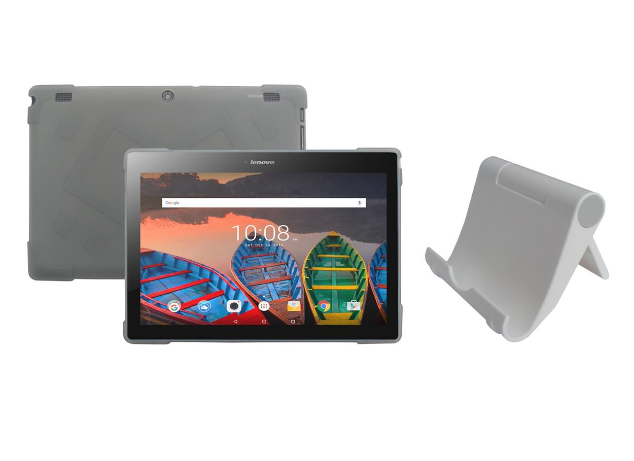 tpu case tablet stand holder for lenovo tab 10 1 tb x103f tablet 2016 release. Black Bedroom Furniture Sets. Home Design Ideas