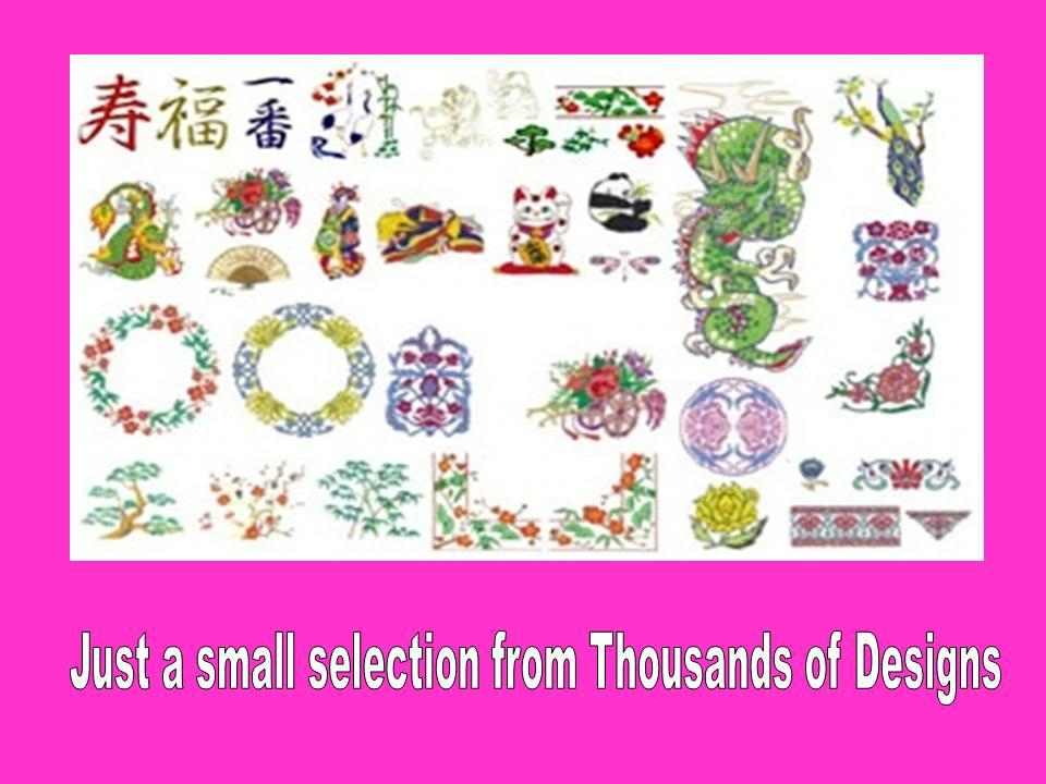 Janome jef machine embroidery designs cd collection over