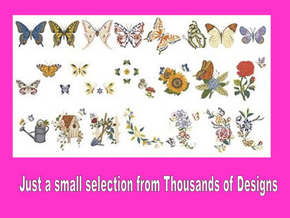 Janome JEF Machine Embroidery Designs CD Collection over 8,000 Designs eBay