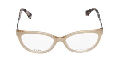 authentic fendi ff 0079 e0o beige pearl glasses eyeglasses