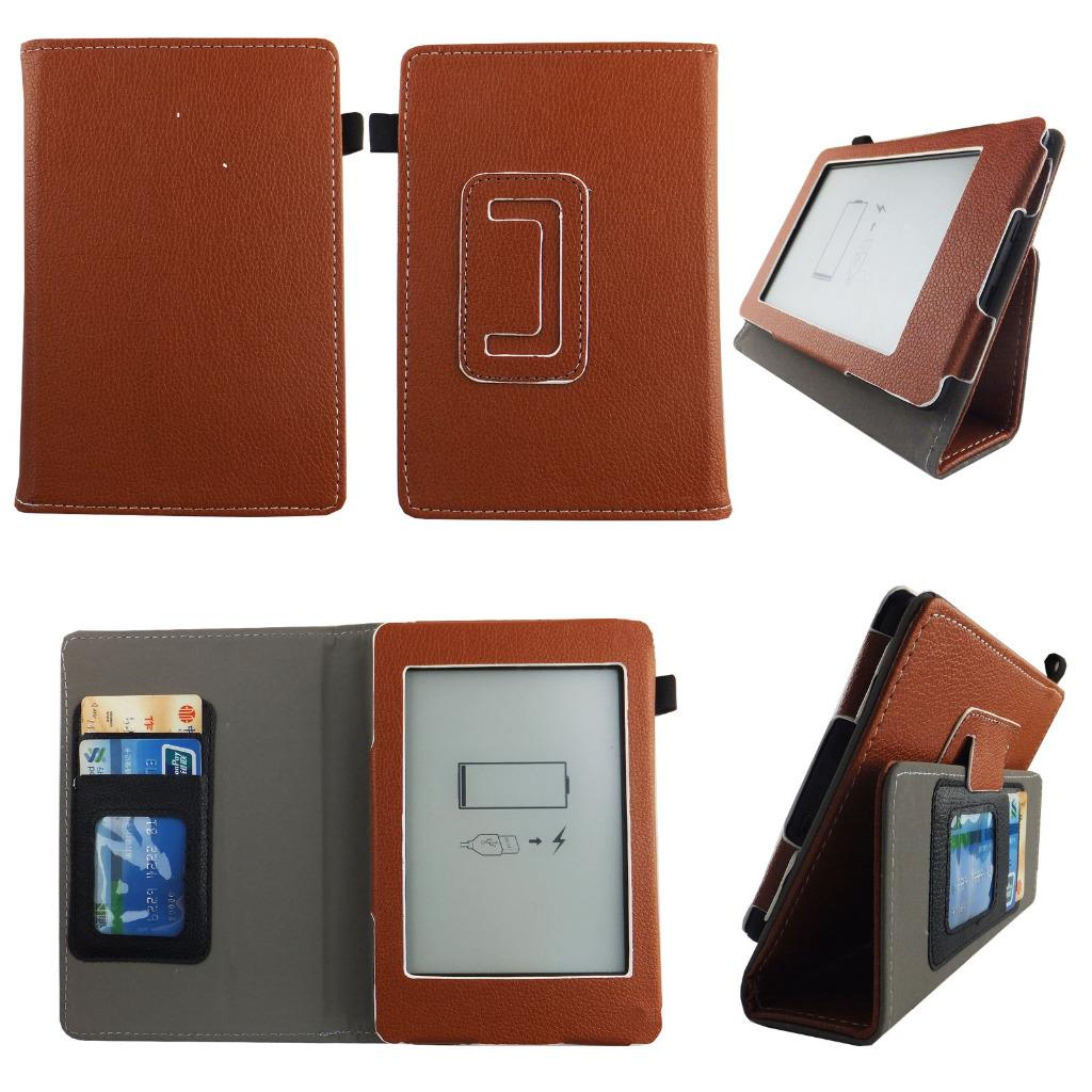 leather tablet case for kindle paperwhite 6inch folio flip