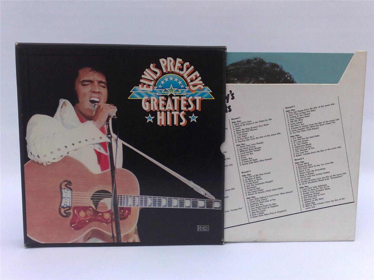 Elvis-Presleys-Greatest-Hits-Box-Set-Of-6-LP-Recordings-33-1-3-RPM-Collectable