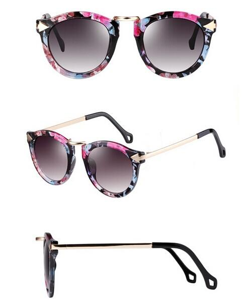 Vintage Retro Women's Unisex Sunglasses Arrow Style Metal Frame 4 Colors