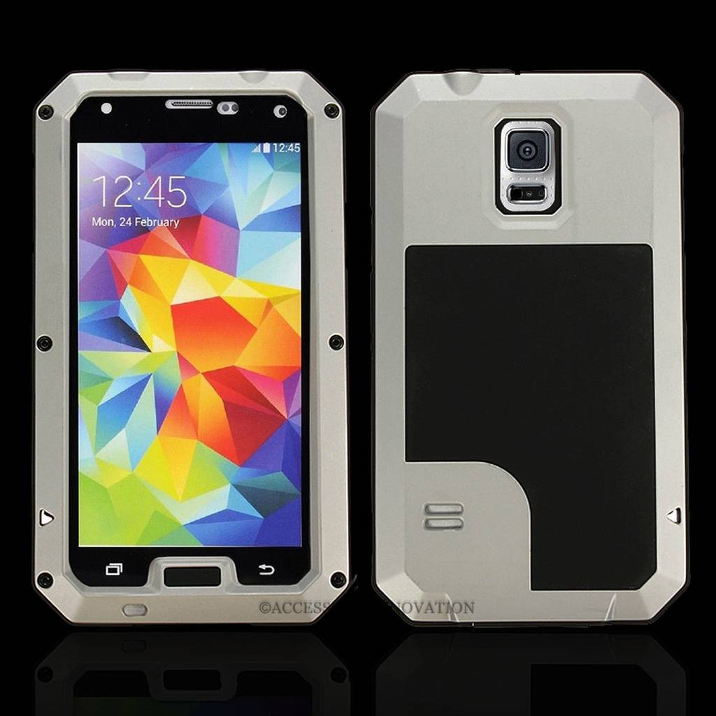 ... Aluminum Metal Shock/Water proof Case for Samsung Galaxy S5 I9600