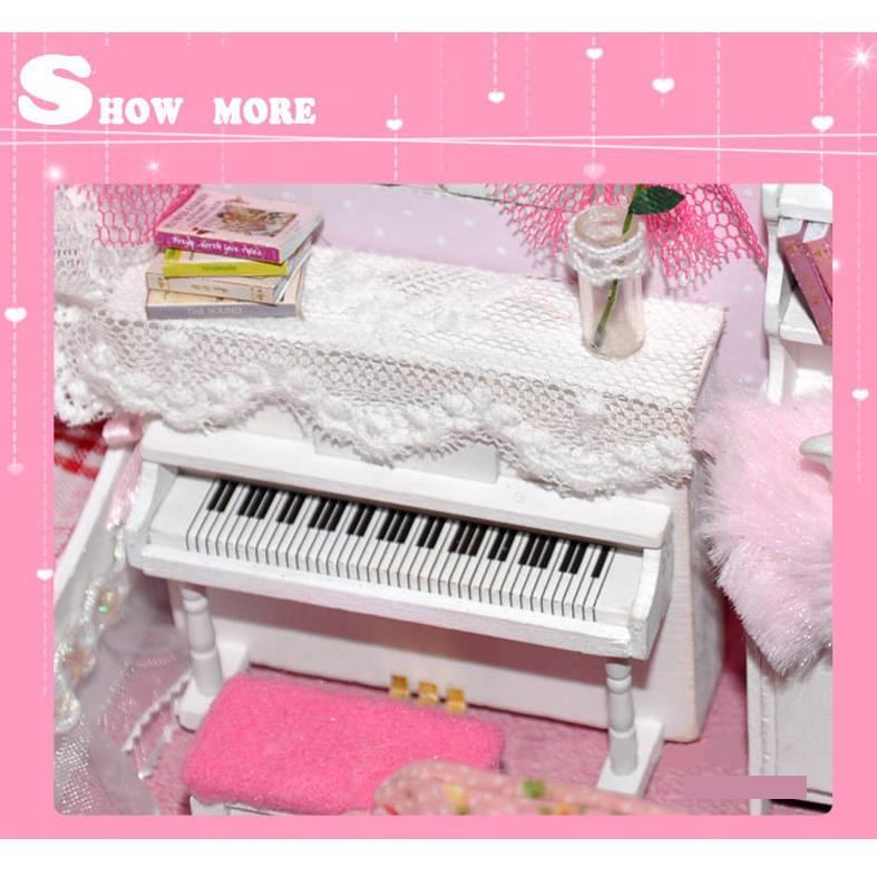 Dolls house chambre coucher de poup e princesse musique for Chambre princesse