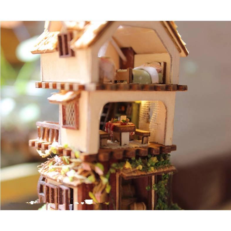 Diy handgefertigte miniatur projekt holz puppenhaus set - Puppenhaus beleuchtung set ...