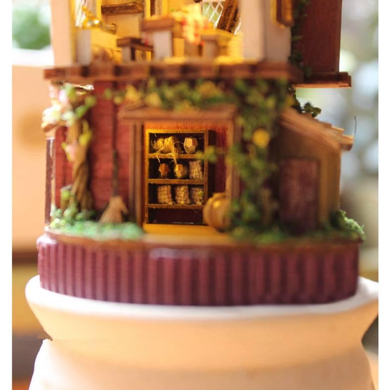 Diy handgefertigte miniatur projekt holz puppenhaus set for Puppenhaus beleuchtung set