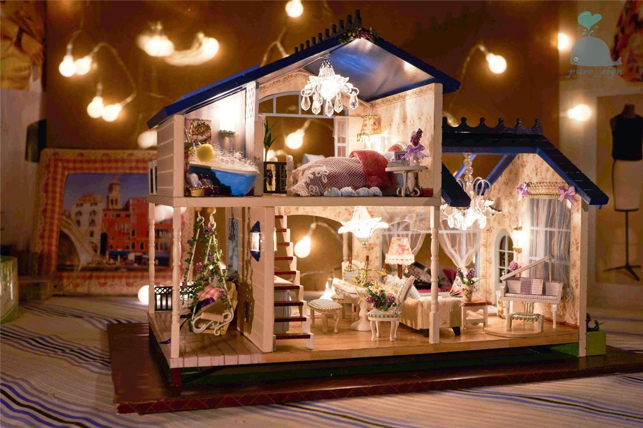 Fai da te artigianato miniatura progetto legno casa delle - Casa delle bambole in legno ikea ...