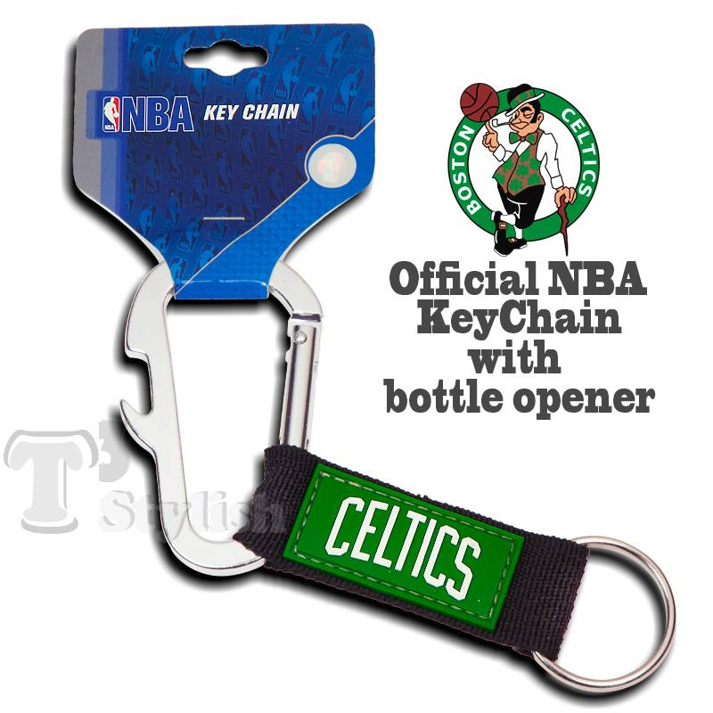 boston celtics nba official carabiner keychain ring bottle opener lanyard clip ebay. Black Bedroom Furniture Sets. Home Design Ideas