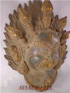 Old mask protection bhairava tibetan buddhist hindu nepal for Home decor nepal