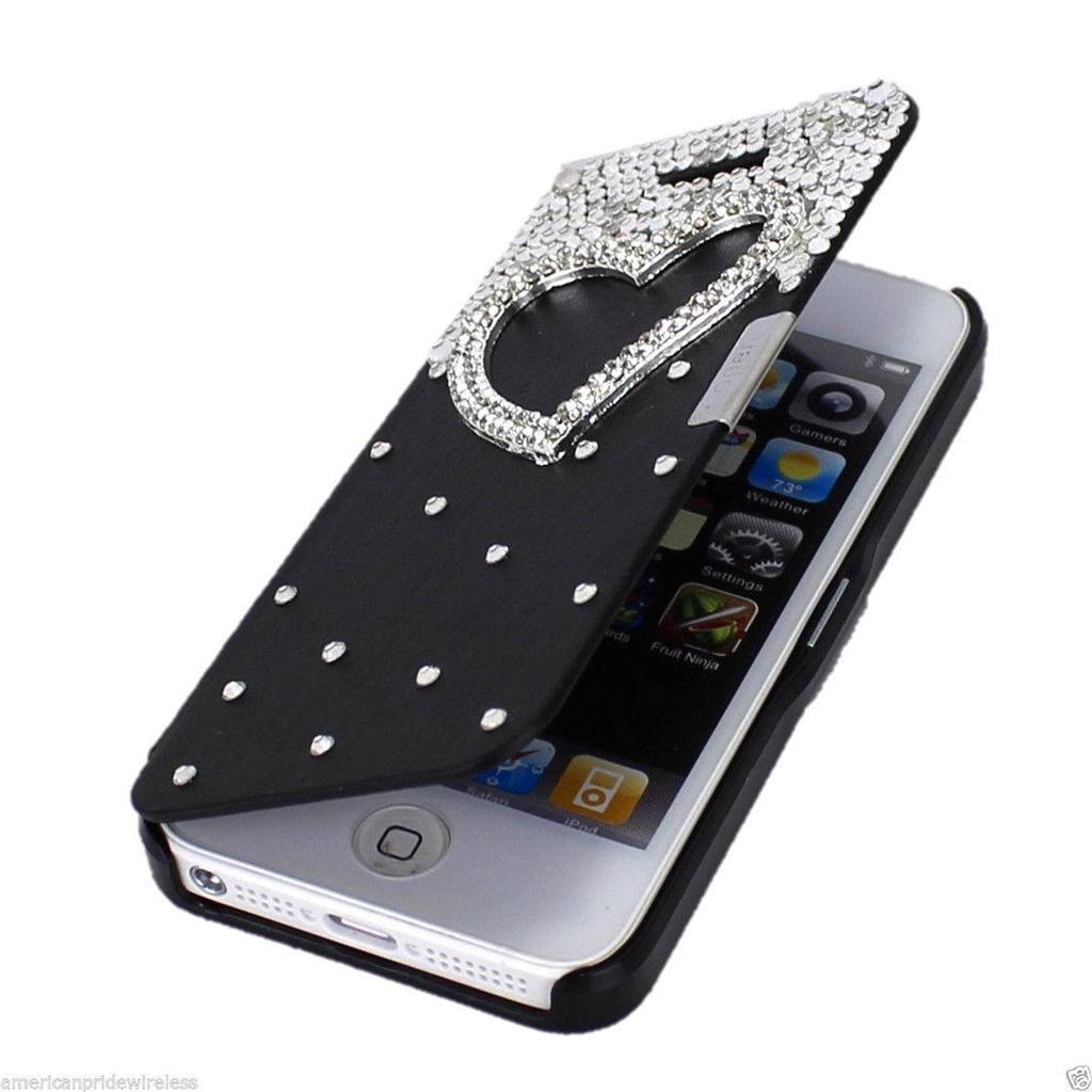 for apple iphone 5s 5 case wallet card id pouch flip stand cover ebay. Black Bedroom Furniture Sets. Home Design Ideas