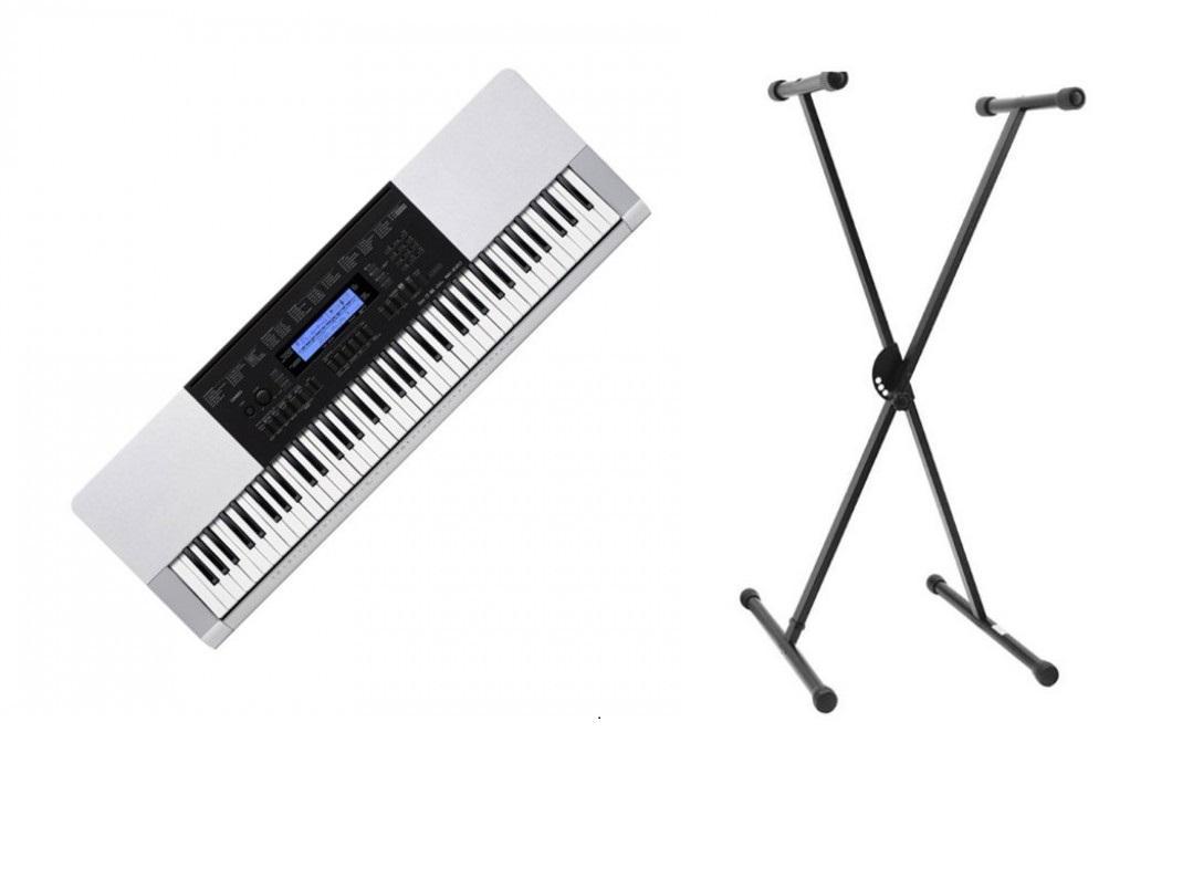 76 key casio wk220 portable arranger keyboard with bonus stand ebay. Black Bedroom Furniture Sets. Home Design Ideas