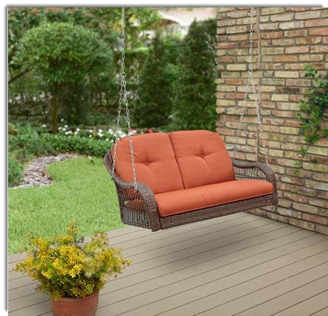 Better Homes And Garden Azalea Ridge 2 Person Outdoor Swing Orange Garden Yard Ebay