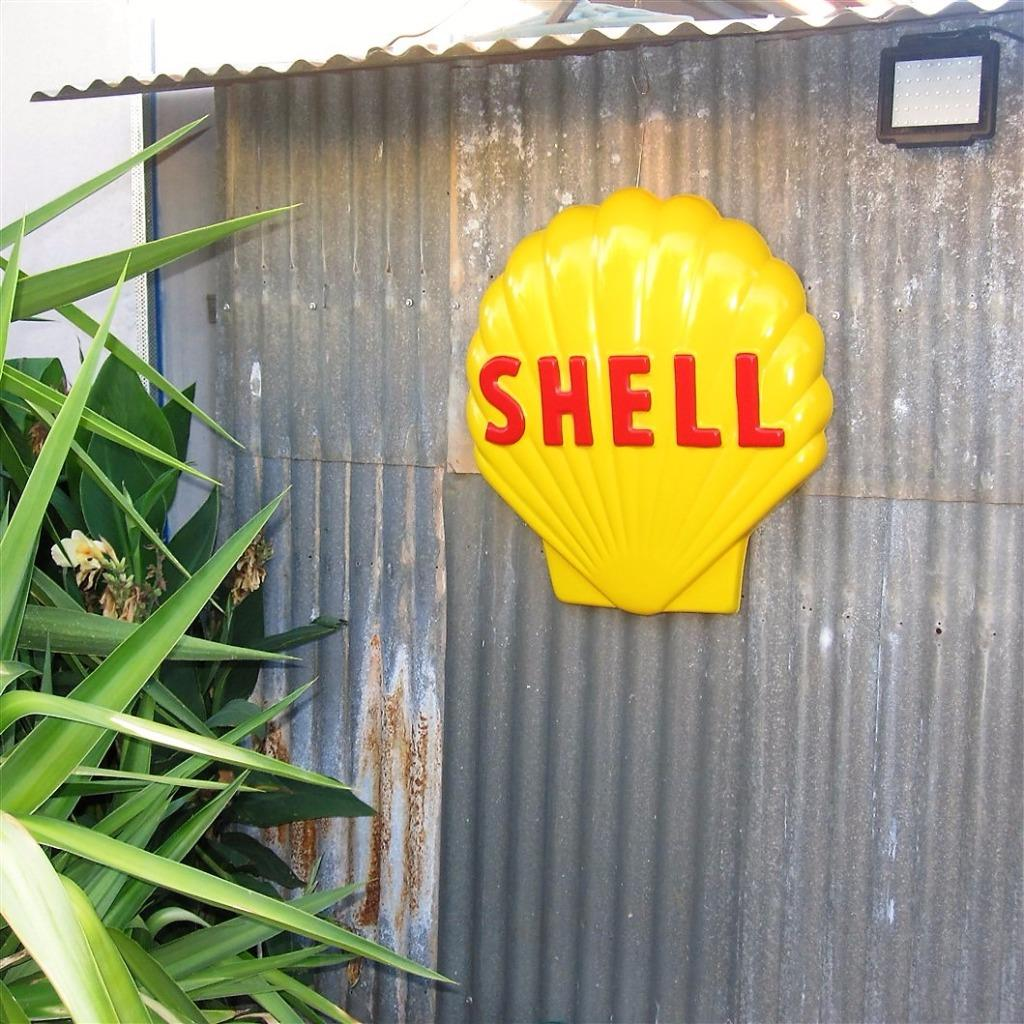 Shell Garages: HUGE SHELL Petrol Oil Sign, Bowser Bar Garage Gasoline