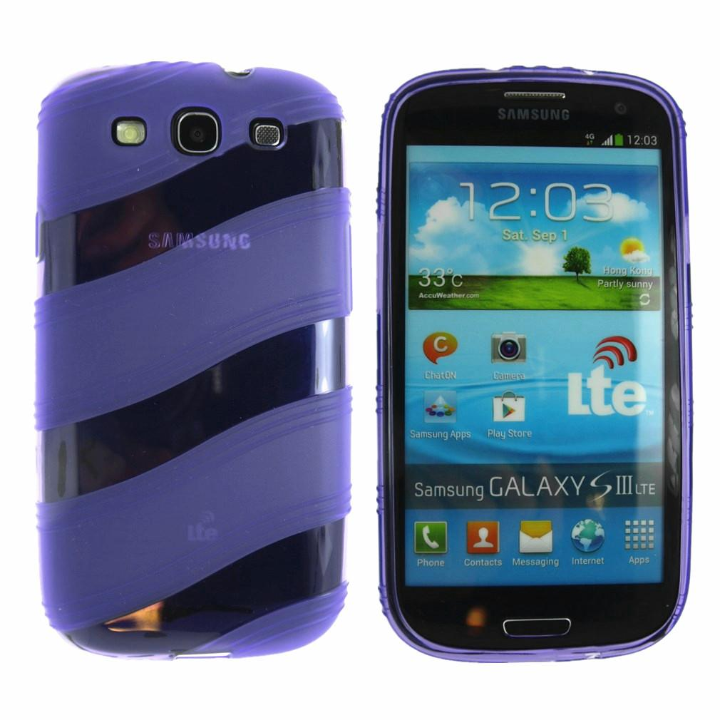 galaxy s3 case wavy rubber case for samsung galaxy s3 siii screen protector ebay. Black Bedroom Furniture Sets. Home Design Ideas
