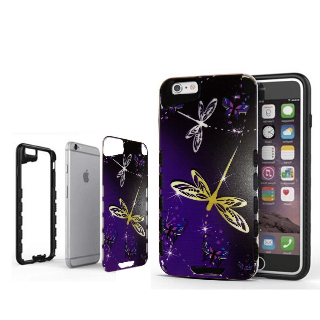 For iphone 6S Hybrid Case Slim Shock Proof Bumper Fashion ...