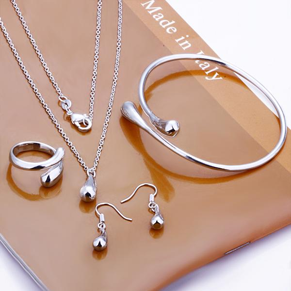 classic 925 silver teardrop necklace bracelet bangle