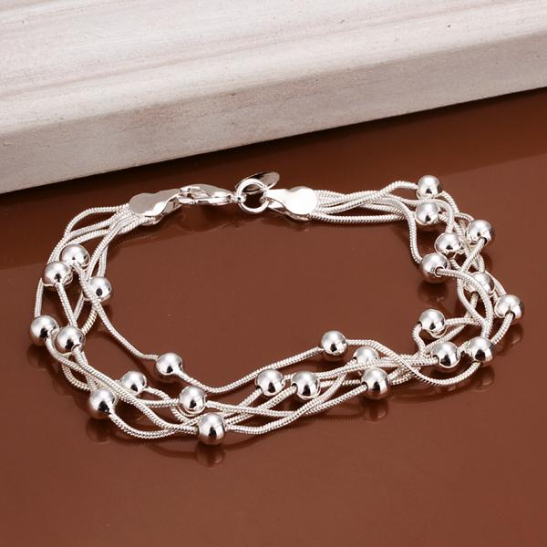 Wholesale women's fashion Classic 925 Sterling silver filled Bracelet Bangle 8''