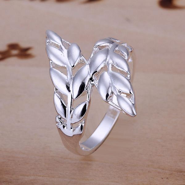Wholesale Lady/Women Classic Fashion High quality Silver Plated Ring Gift Size 8