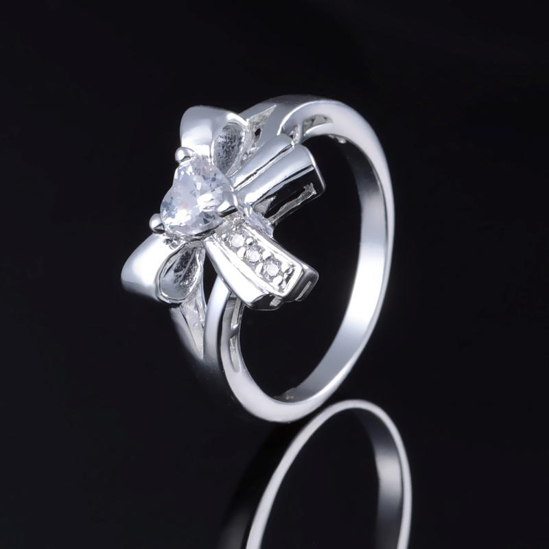 Wholesale Lady/women Classic hot fashion 925 Sterling Silver Ring Size 8