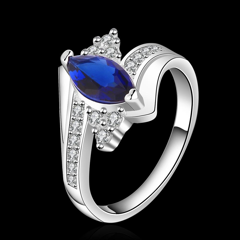 Women's charm fashion 925 sterling silver Sapphire Ring Xmas Gifts Size 7-8 R507