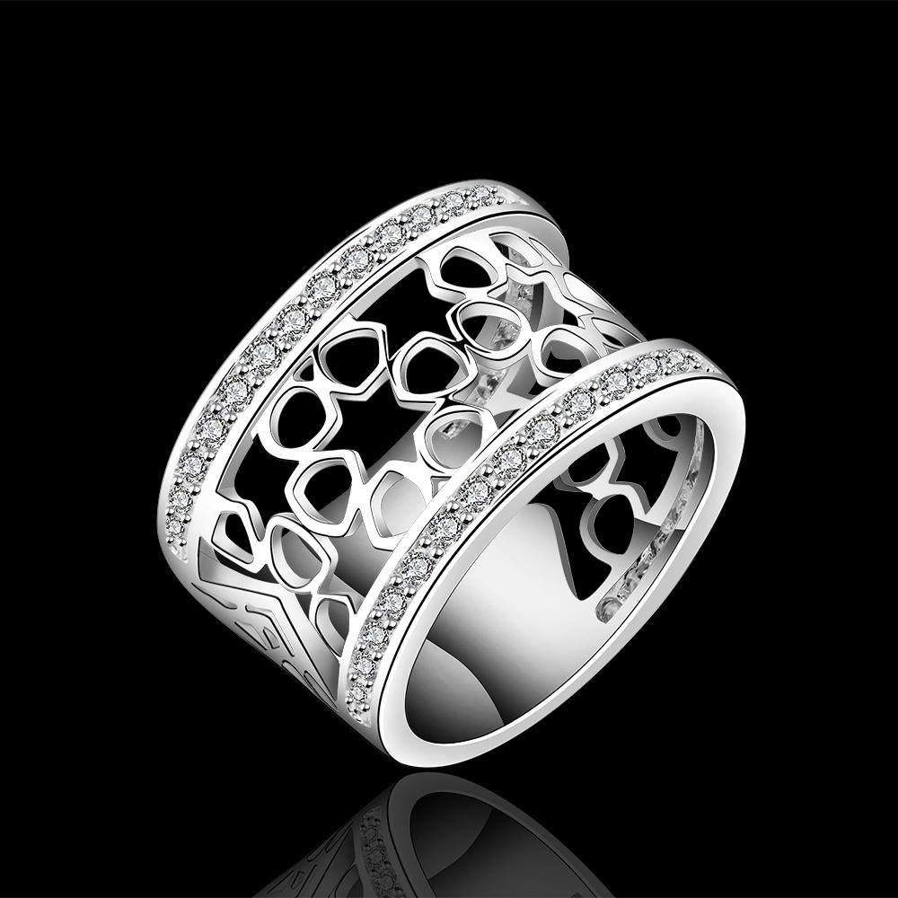 Wholesale New fashion 925 sterling silver Natural Crystal Ring Size 7-8 R571