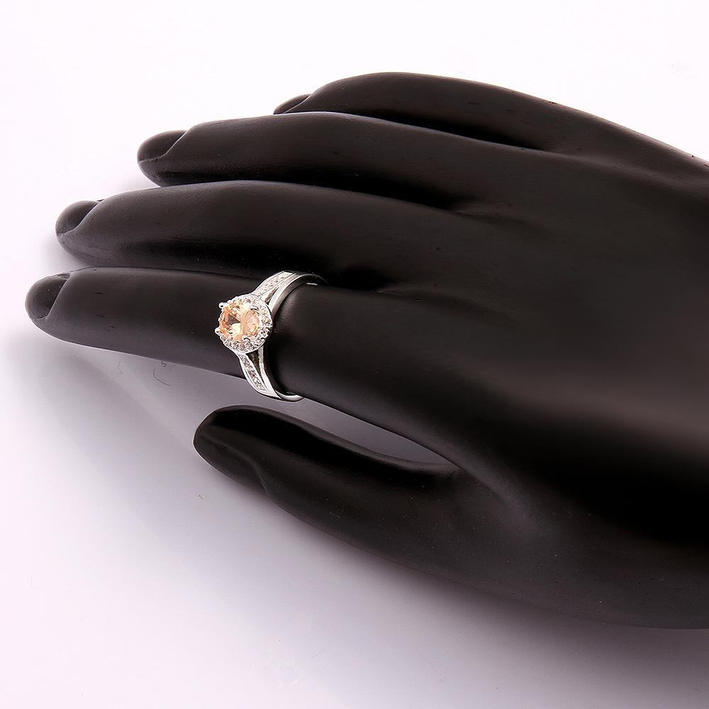 mother's day gift elegant 925 sterling silver champagne zircon