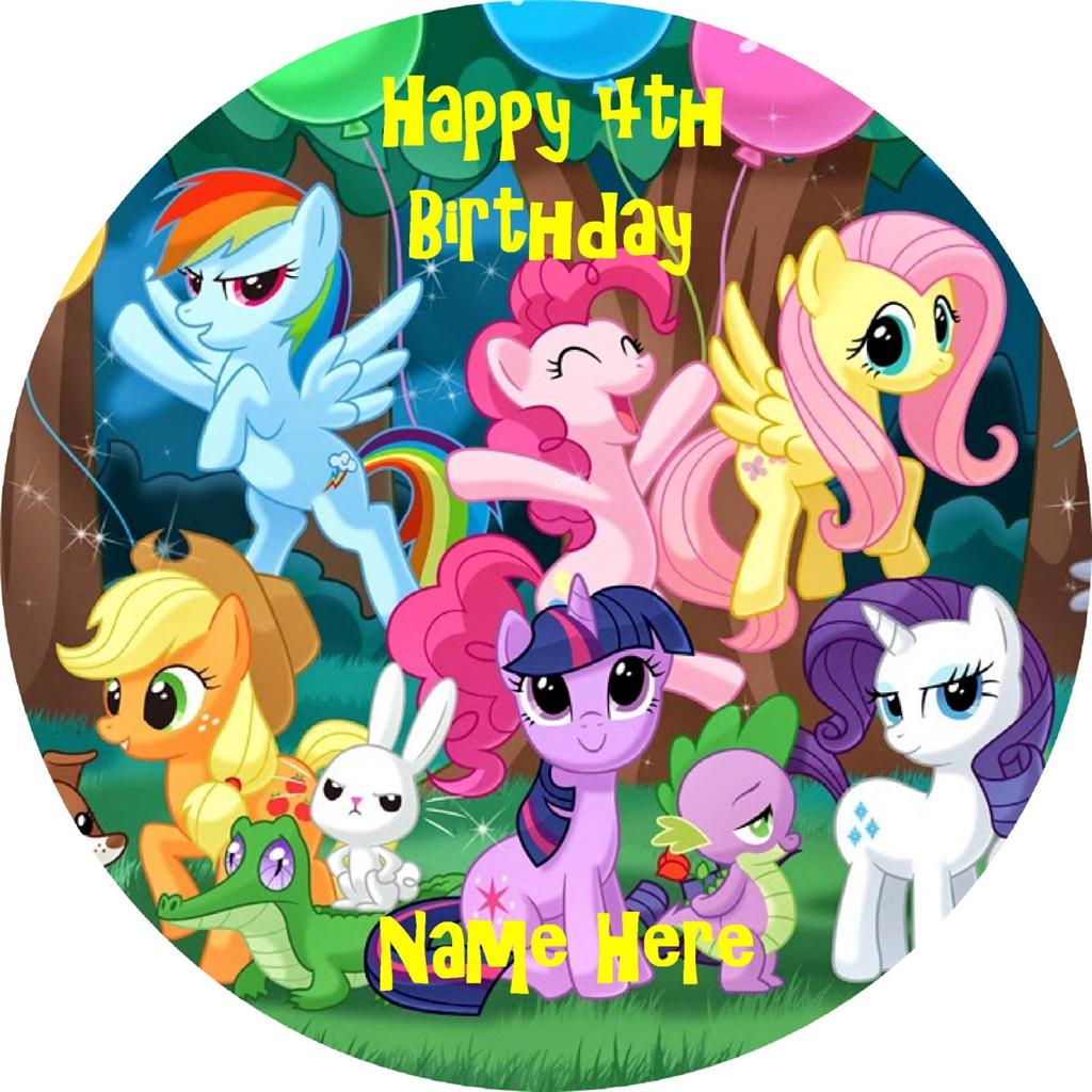 My Little Pony edible icing cake toppers! | eBay